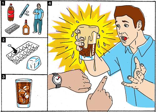Mentos y coca-cola