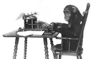 mono escriviendo